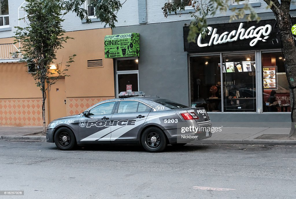 Toronto Police Department Vehicle Parked Up : Stock Photo