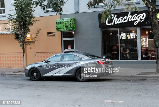 Toronto Police Department Vehicle Parked Up : Foto de stock