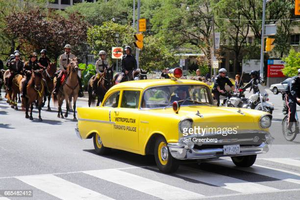 Toronto Police Equestrian Day yellow police car