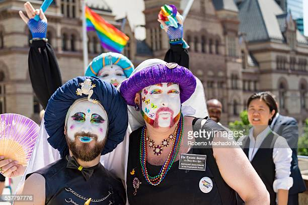 Toronto Pride Month Happy members of the LGBT community partaking in the launch of Pride Month Toronto City successfully launches the first Pride...