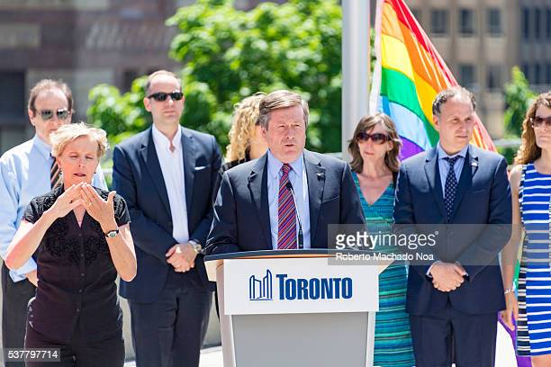 Toronto Pride Month Major John Tory speaking to officially launch Pride celebrations Toronto City successfully launches the first Pride Month in...