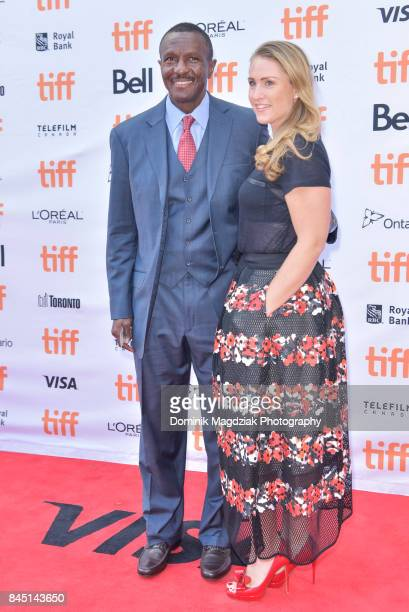 Toronto Raptors coach Dwane Casey and wife Brenda Casey attend 'The Carter Effect' premiere at Princess of Wales Theatre on September 9 2017 in...