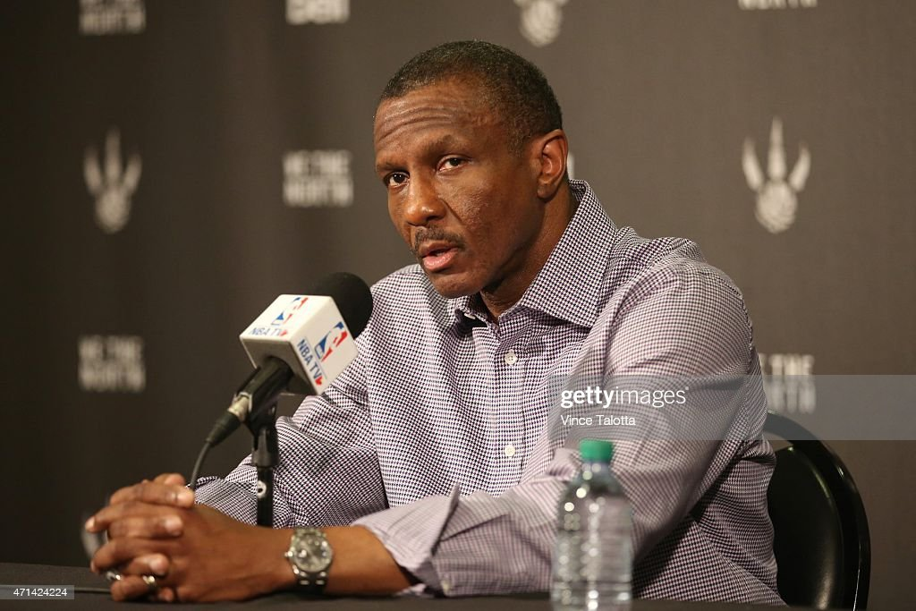 Toronto Raptors coach Dwayne Casey speaks to the media at the Air Canada Centre the day after losing game four to the Washington Wizards eliminating them from the NBA playoffs.