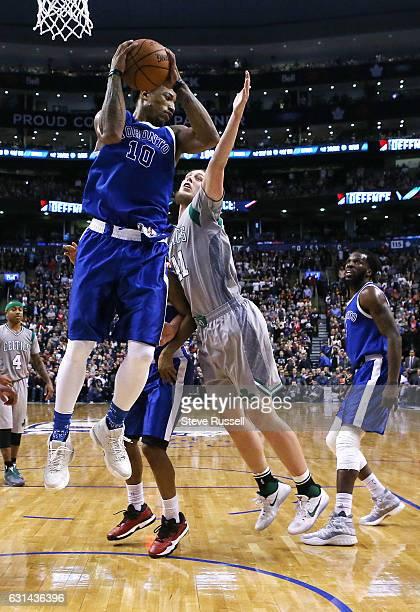 TORONTO ON JANUARY 10 Toronto Raptors guard DeMar DeRozan had a career high 13 rebounds as the Toronto Raptors wearing their throw back Toronto...