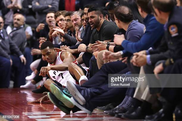 TORONTO ON JANUARY 5 Toronto Raptors guard Kyle Lowry ended up on the floor after chasing a loose ball as the Toronto Raptors beat the Utah Jazz...