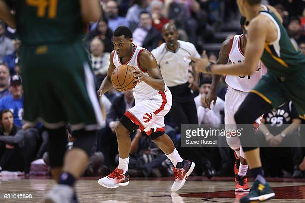 TORONTO ON JANUARY 5 Toronto Raptors guard Kyle Lowry runs up court as the Toronto Raptors beat the Utah Jazz 10193 at Air Canada Centre in Toronto...