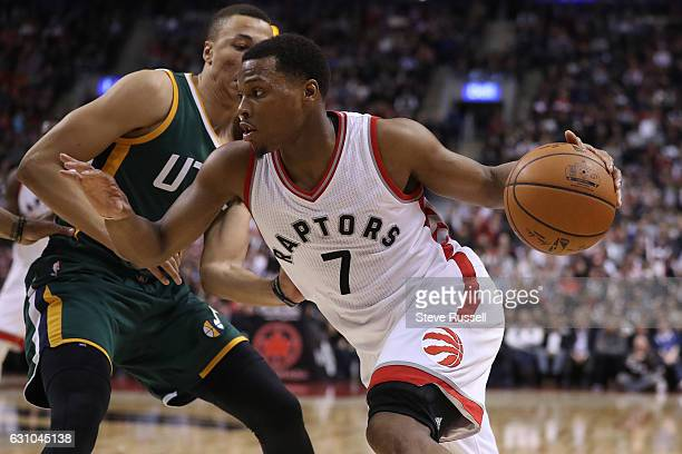 TORONTO ON JANUARY 5 Toronto Raptors guard Kyle Lowry scored 33 points as the Toronto Raptors beat the Utah Jazz 10193 at Air Canada Centre in...