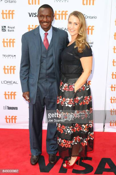 Toronto Raptor's head coach Dwane Casey and Brenda Casey attend 'The Carter Effect' premiere during the 2017 Toronto International Film Festival at...