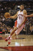 TORONTO ON DECEMBER 13 Toronto Raptors new point guard Greivis Vasquez drives in the paint late in the game as theToronto Raptors defeated the...
