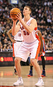 TORONTO ON FEBRUARY 27 Toronto Raptors power forward Tyler Hansbrough takes a free throw during the game between the Toronto Raptors and the...