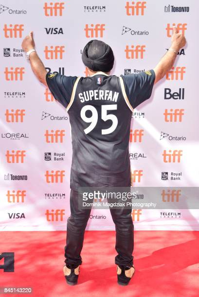 Toronto Raptors superfan Nav Bhatia attends 'The Carter Effect' premiere at Princess of Wales Theatre on September 9 2017 in Toronto Canada