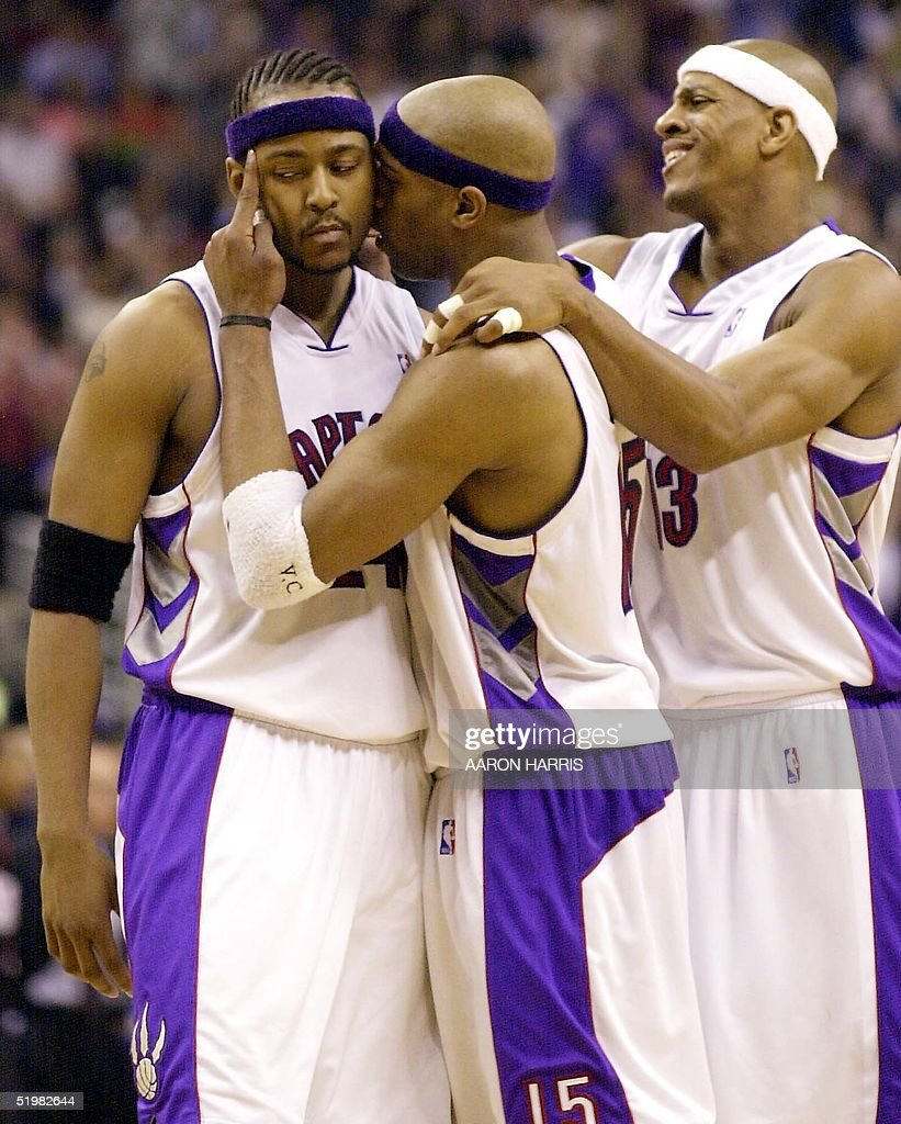 Toronto Raptors Vince Carter C and Jerome Willia