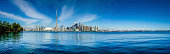 Toronto skyline waterfront panorama from Centre Island, Ontario, Canada.