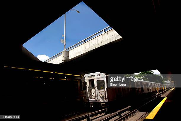 A Toronto Transit Commission subway car passes through Davisville station in Toronto Ontario Canada on Wednesday July 13 2011 The Toronto Transit...