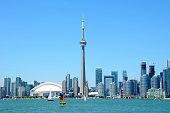 Toronto city skyline.
