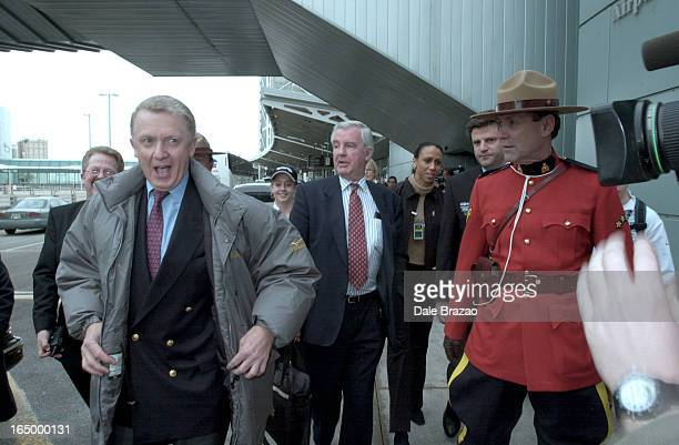 TorontoHein Verbruggen head of the 14 delegate IOC representatives in town to assess Toronto's bid for the 2008 Olympics reacts to the throng of...