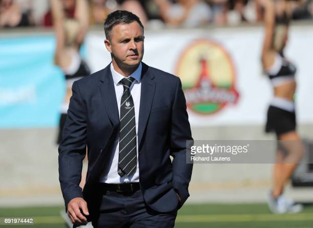 TORONTO ON JUNE 3 Toronto's Head Coach Paul Rowley Canada's first professional rugby team the Toronto Wolfpack beat the Coventry Bears 5612 in...
