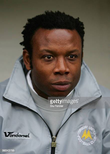 Torquay manager Leroy Rosenior before the FA Cup Third round game between Torquay United and Birmingham City on January 72005 at Plainmoor Torquay...