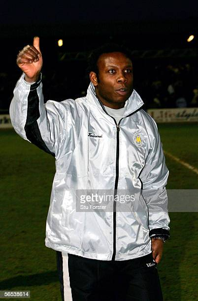 Torquay manager Leroy Rosenior waves triumphantly to the fans after the 00 draw in the FA Cup Third round game between Torquay United and Birmingham...