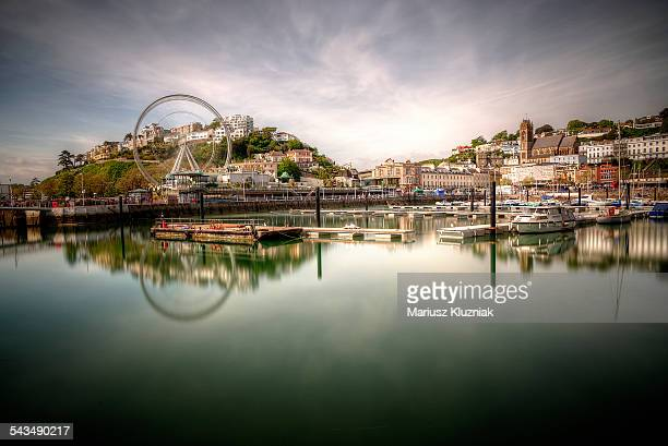 Torquay Torbay Wheel and Harbour reflection