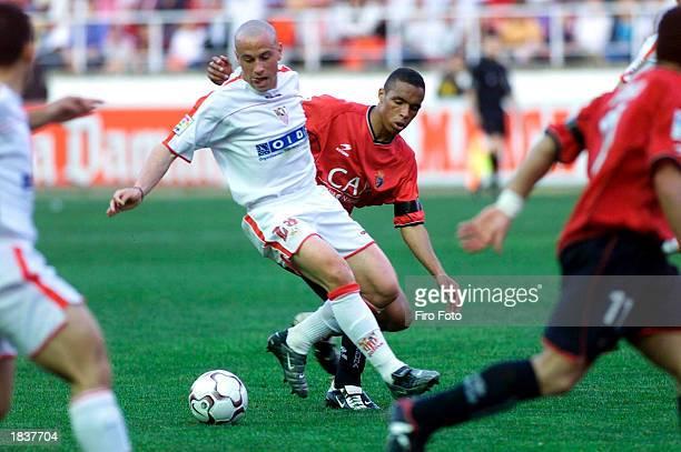 Torrado of Sevilla in action during the Primera Liga match between Sevilla and Osasuna on March 9 2003 held at Sanchez Pizjuan Stadium Sevilla Spain