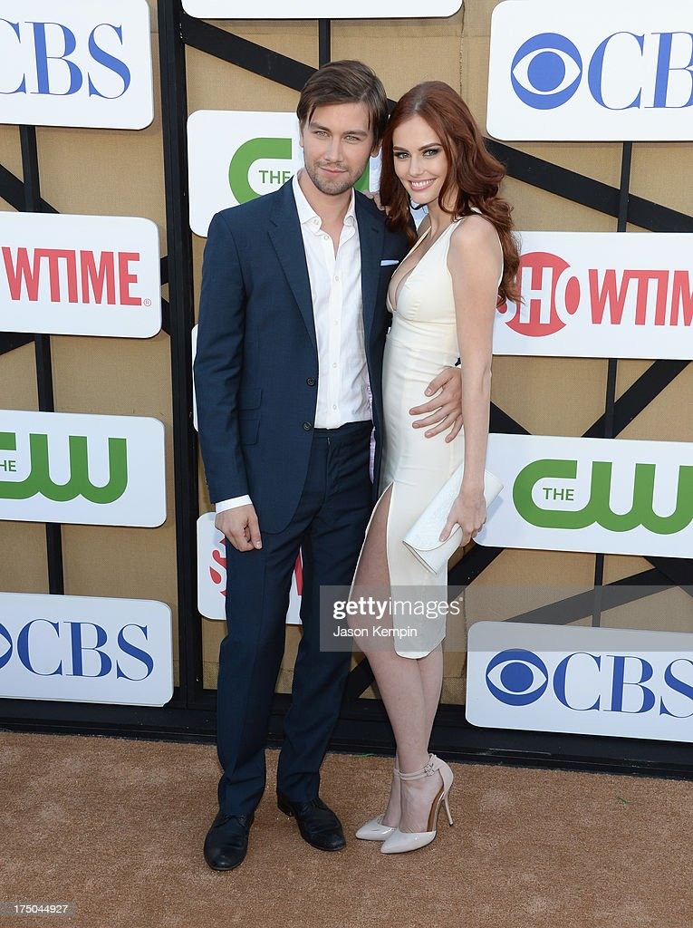 Torrance Coombs and Alyssa Campanella attend the CW, CBS And Showtime 2013 Summer TCA Party on July 29, 2013 in Los Angeles, California.