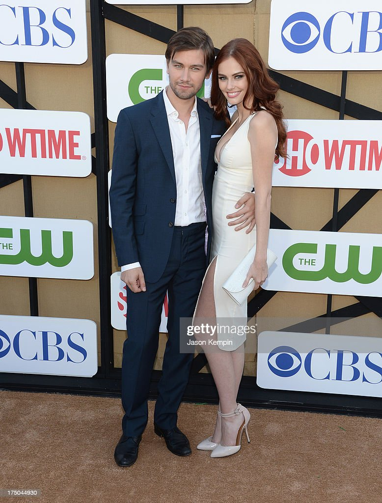 Torrance Coombs and <a gi-track='captionPersonalityLinkClicked' href=/galleries/search?phrase=Alyssa+Campanella&family=editorial&specificpeople=7480512 ng-click='$event.stopPropagation()'>Alyssa Campanella</a> attend the CW, CBS And Showtime 2013 Summer TCA Party on July 29, 2013 in Los Angeles, California.