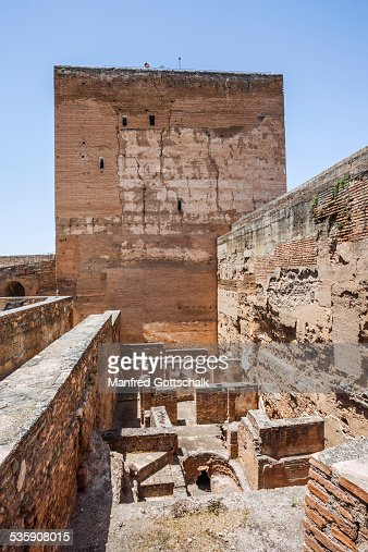 Torre de la Vela Alcazaba Granada : Stock Photo