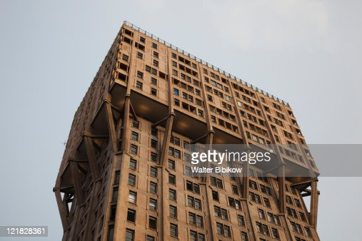 Torre Velasca tower, Milan, Lombardy, Italy : Stock Photo