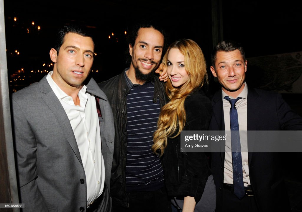 JT Torregiani, Ross Naess, Kimberly Ryan and Sylvain Bitton attend the Aventine Restaurant Grand Opening on January 31, 2013 in Hollywood, California.