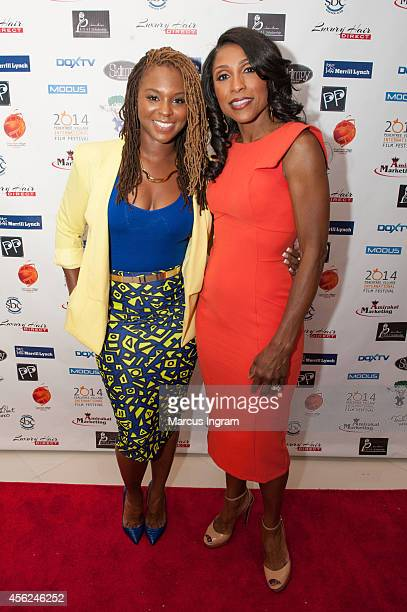 Torrei Hart and Dr Jacqueline Walters attend day 3 of the 9th Annual Peachtree Village International film festival on September 27 2014 in Atlanta GA