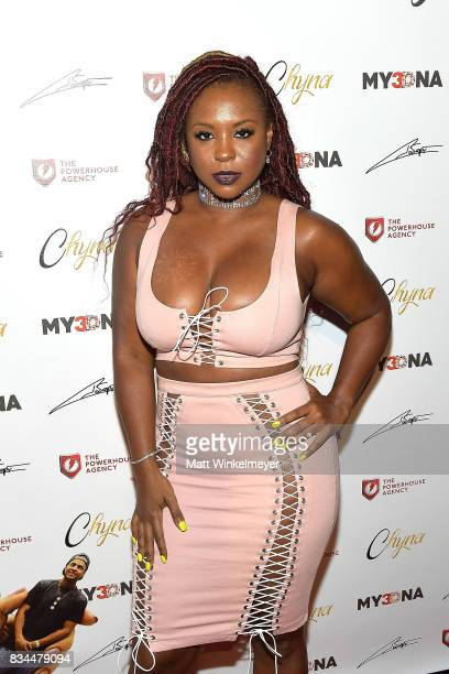 Torrei Hart attends Blac Chyna's figurine dolls launch on August 17 2017 in Los Angeles California