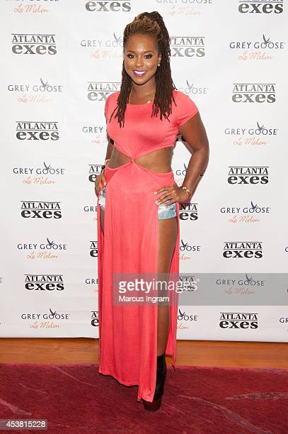 Torrei Hart attends the 'Atlanta Exes' premiere viewing party at 10 Terminus Place on August 18 2014 in Atlanta Georgia