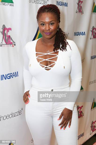 Torrei Hart attends the HazelE Lil' Fizz and Brittani Williams book signing for 'Girl Code' and 'No Excuses' at Barnes Noble at The Grove on April 4...