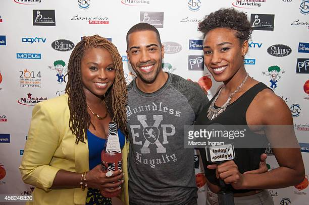 Torrei Hart Brad James and Naomi Mack attend day 3 of the 9th Annual Peachtree Village International film festival on September 27 2014 in Atlanta GA
