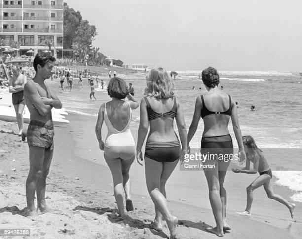 1964 Torremolinos Malaga Costa del So Tourists in the beach