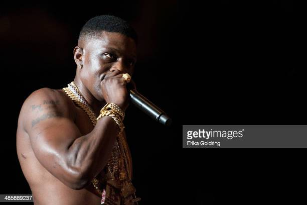 Torrence Hatch aka Lil Boosie performs at UNO Lakefront Arena on April 20 2014 in New Orleans Louisiana