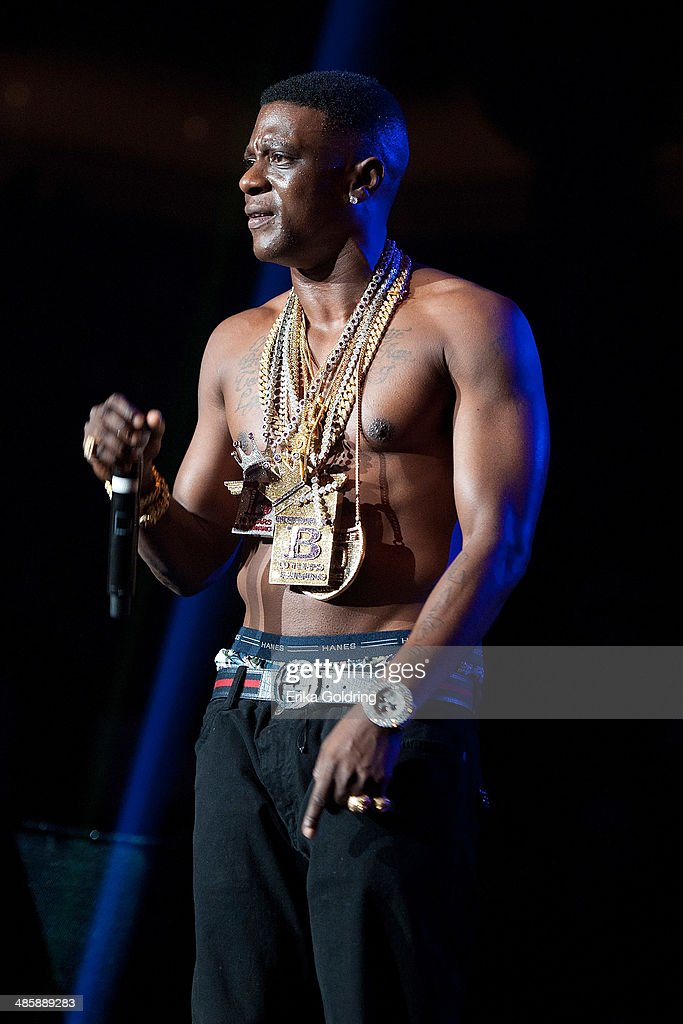 Torrence Hatch aka <a gi-track='captionPersonalityLinkClicked' href=/galleries/search?phrase=Lil+Boosie&family=editorial&specificpeople=1295943 ng-click='$event.stopPropagation()'>Lil Boosie</a> performs at UNO Lakefront Arena on April 20, 2014 in New Orleans, Louisiana.