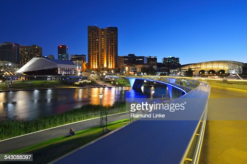 Torrens Lake and the Adelaide Festival Centre at D