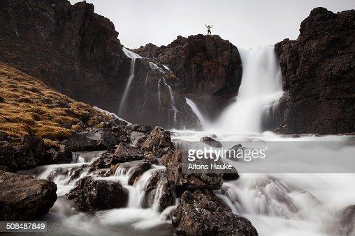 Torrent in Vestdalur, Seydisfjoerdur, Iceland, Europe