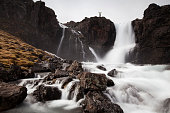 Torrent in Vestdalur, Seydisfjoerdur, Iceland, Europe