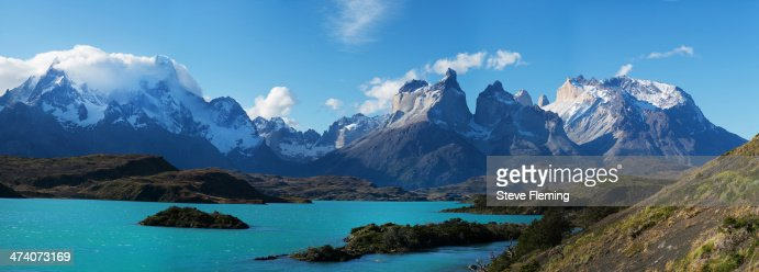 Torres del Paine in the evening