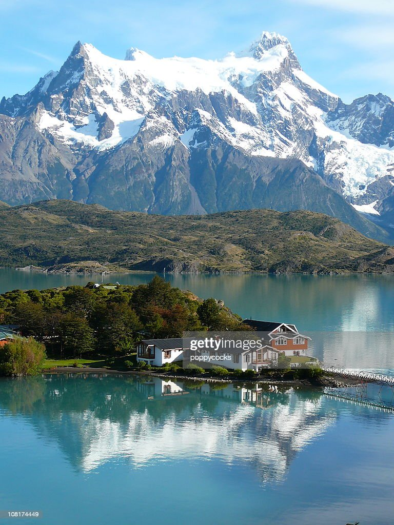 Torres del Paine See Lake Pehoe : Stock-Foto