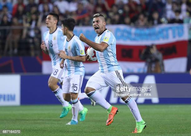 Torres Marcelo of Argentina celebrates after scoring a goal during the FIFA U20 World Cup Korea Republic 2017 group A match between Korea Republic...