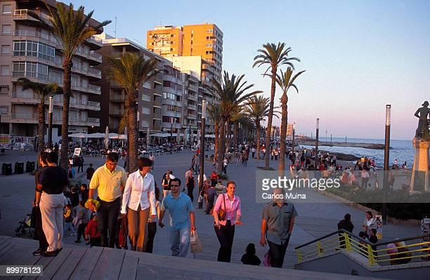 Torrevieja Alicante 'Juan Aparicio' promenade sea side