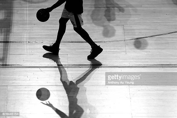 Torrey Craig of the Bullets during warm up prior to the round 10 NBL match between the New Zealand Breakers and the Brisbane Bullets at Vector Arena...