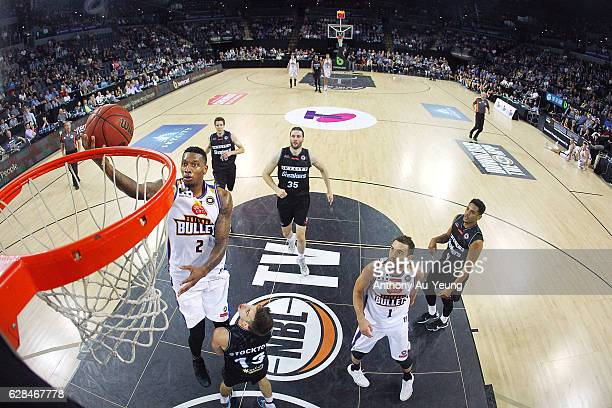 Torrey Craig of the Bullets goes to the basket during the round 10 NBL match between the New Zealand Breakers and the Brisbane Bullets at Vector...