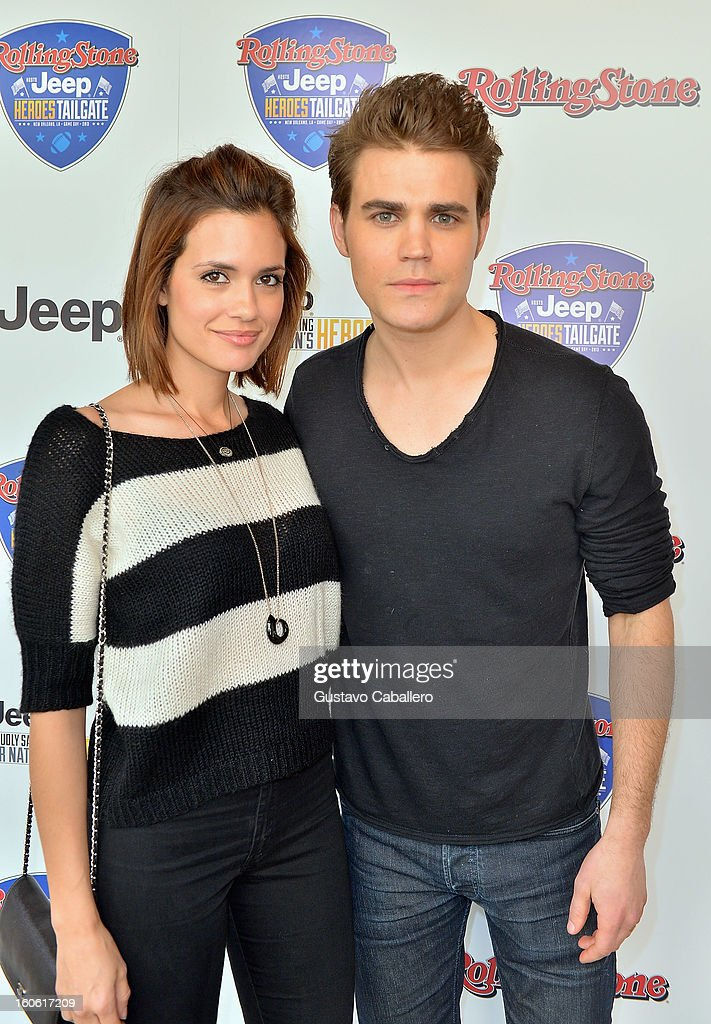<a gi-track='captionPersonalityLinkClicked' href=/galleries/search?phrase=Torrey+DeVitto&family=editorial&specificpeople=4357676 ng-click='$event.stopPropagation()'>Torrey DeVitto</a> and <a gi-track='captionPersonalityLinkClicked' href=/galleries/search?phrase=Paul+Wesley&family=editorial&specificpeople=693176 ng-click='$event.stopPropagation()'>Paul Wesley</a> attends the Rolling Stone Hosted Jeep Heroes Tailgate on February 3, 2013 in New Orleans, Louisiana.