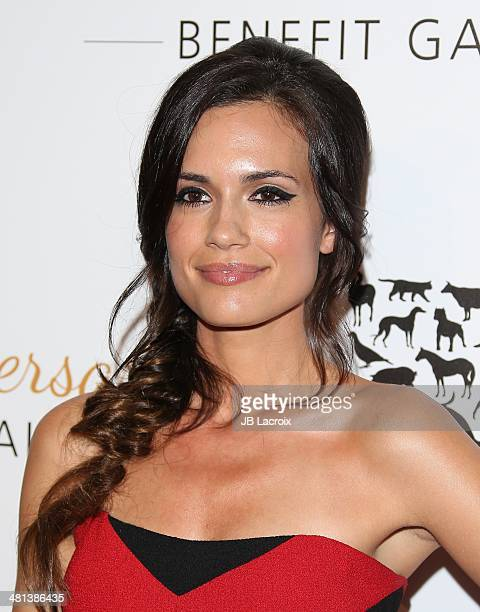 Torrey DeVitto attends The Humane Society Of The United States 60th Anniversary Benefit Gala held at The Beverly Hilton Hotel on March 29 2014 in...