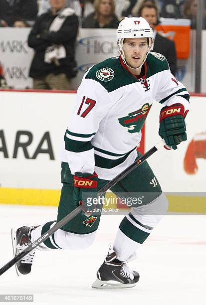 Torrey Mitchell of the Minnesota Wild skates against the Pittsburgh Penguins during the game at Consol Energy Center on December 19 2013 in...